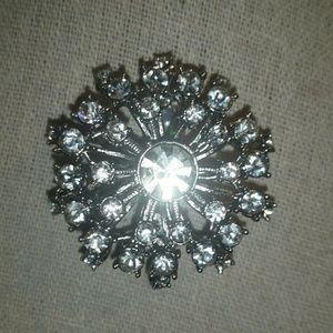 Stella & Dot Silver, Vintage Starburst/Crystal Bro